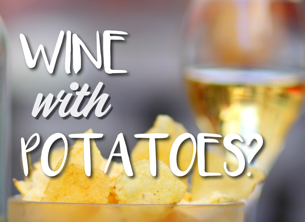 wine with potatoes